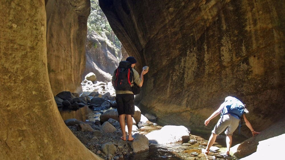 Boulder hopping in Tugela gorge