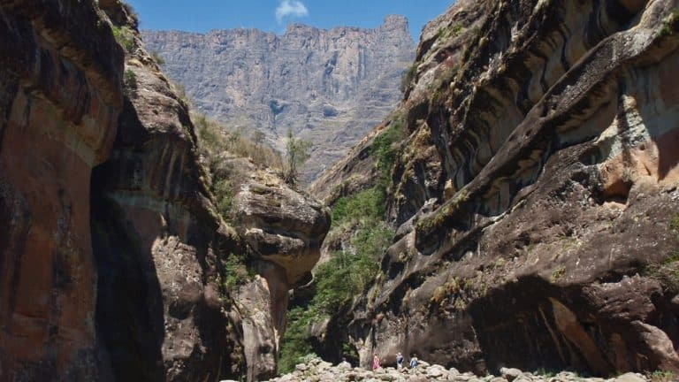 Looking towards the Amphitheatre from Tugela Gorge